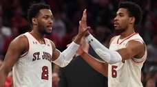 St. John's guard Shamorie Ponds, left, and guard