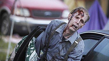 Zombies in a scene in