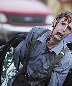Zombies in a scene in quot;The Walking Deadquot;