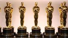 Oscar statues pictured for the 90th Annual