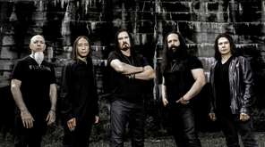 Dream Theater band members, from left to right:
