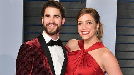 Darren Criss and Mia Swier attend the 2018