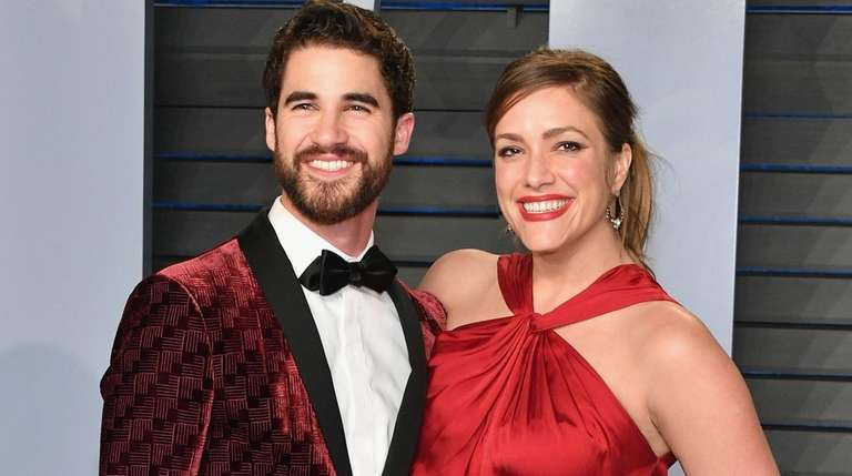Darren Criss and Mia Swier attend the 2018