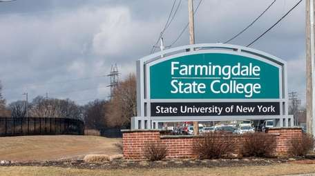 SUNY Farmingdale College on Monday after a morning