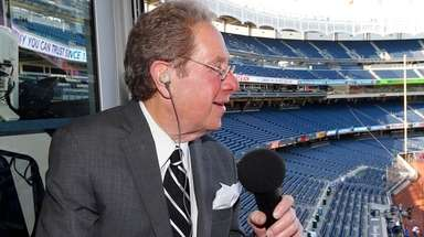 Yankees radio broadcaster John Sterling prior to a