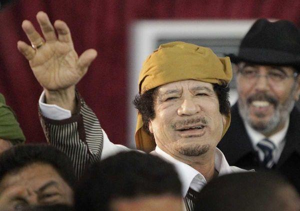 A file photo of Libyan Leader Moammar Gadhafi