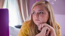 "Elsie Fisher stars in A24 Film's ""Eighth Grade,"""