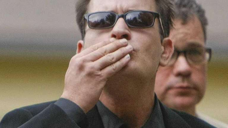 Charlie Sheen arrives at the Pitkin County Courthouse