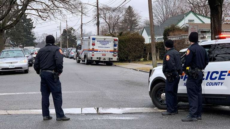 Police on the scene after a person was
