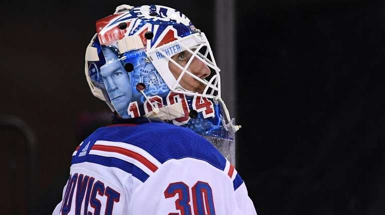 Struggling Henrik Lundqvist Practicing Harder Newsday