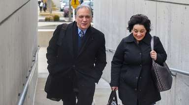 The retrial of Edward and Linda Mangano, seen