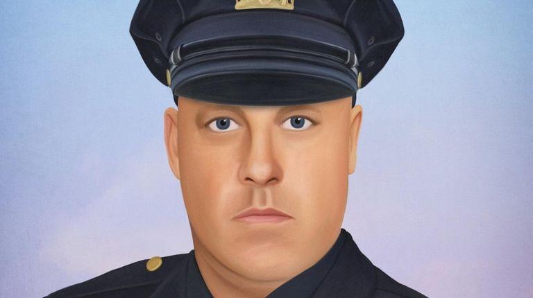 A sketch of fallen NYPD Det. Brian Simonsen