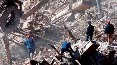 Workers at Ground Zero at the World Trade