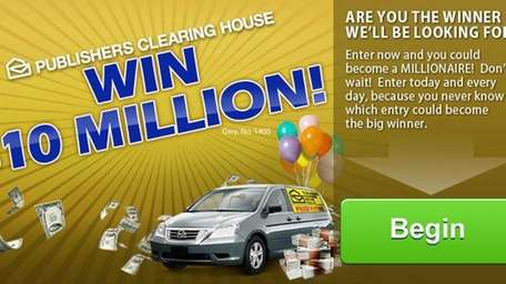 Publishers Clearing House website