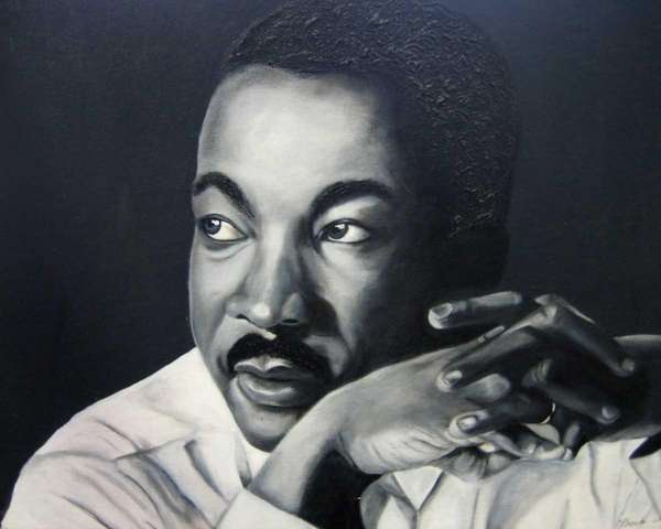 """Martin,"" an acrylic painting on canvas created by"