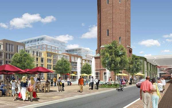 Artist rendering of the public area of the