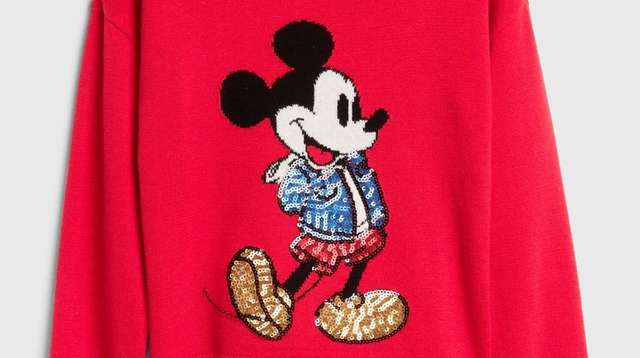 GapKids' Disney Mickey Mouse sequin sweater, part of