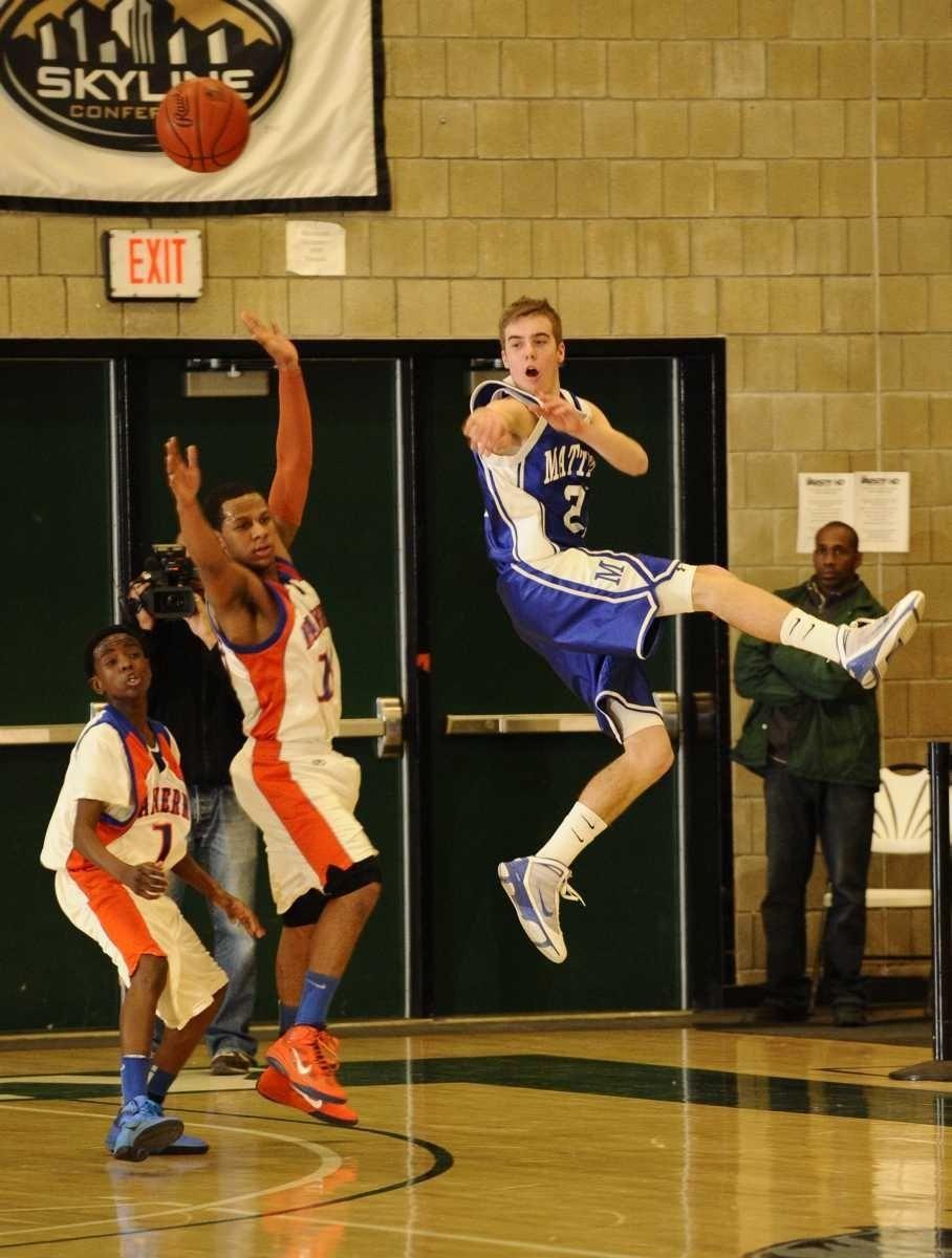Mattituck's Connor Davis leaps to make a pass