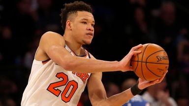 Kevin Knox of the New York Knicks at