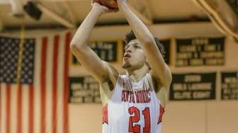 Sean Braithwaite Jr. #21 of Center Moriches goes