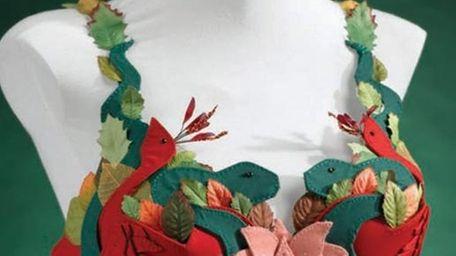 Here, TALISMANS, a bra designed by artist Erica