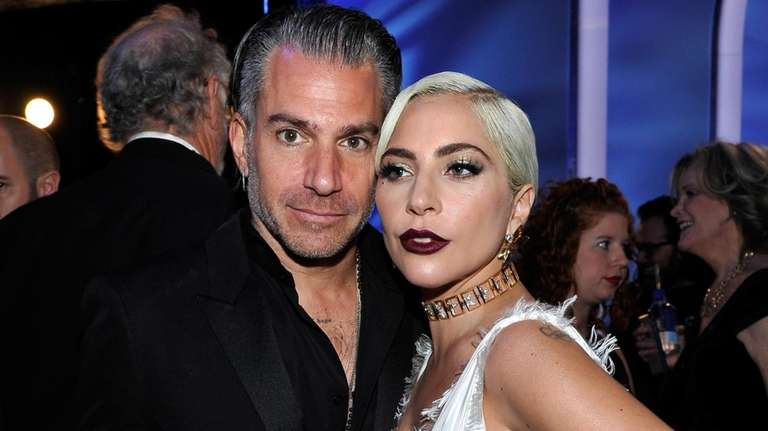 Christian Carino and Lady Gaga attend the Screen