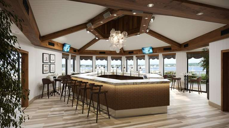 A rendering of the new Gurney's Star Island