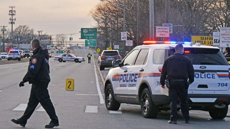 A child was struck by a vehicle in