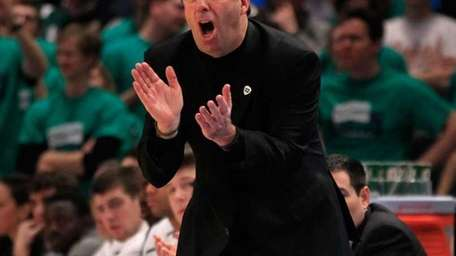 Head coach Mike Brey of the Notre Dame