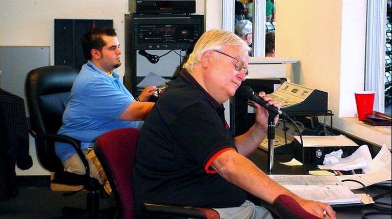 Ducks public address announcer Bob Ottone