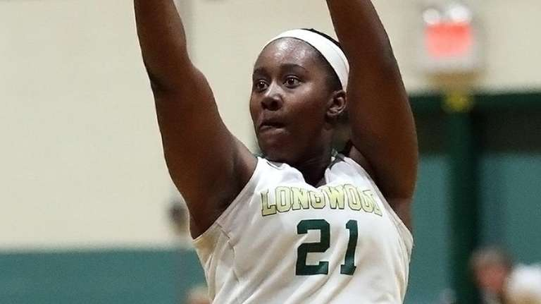 Longwood's Nyia Longford  shoots from the top