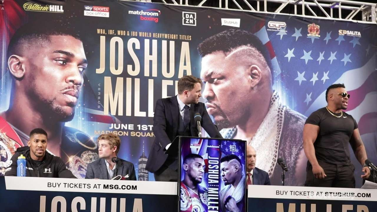 Anthony Joshua and Jarrell Miller discussed their upcoming