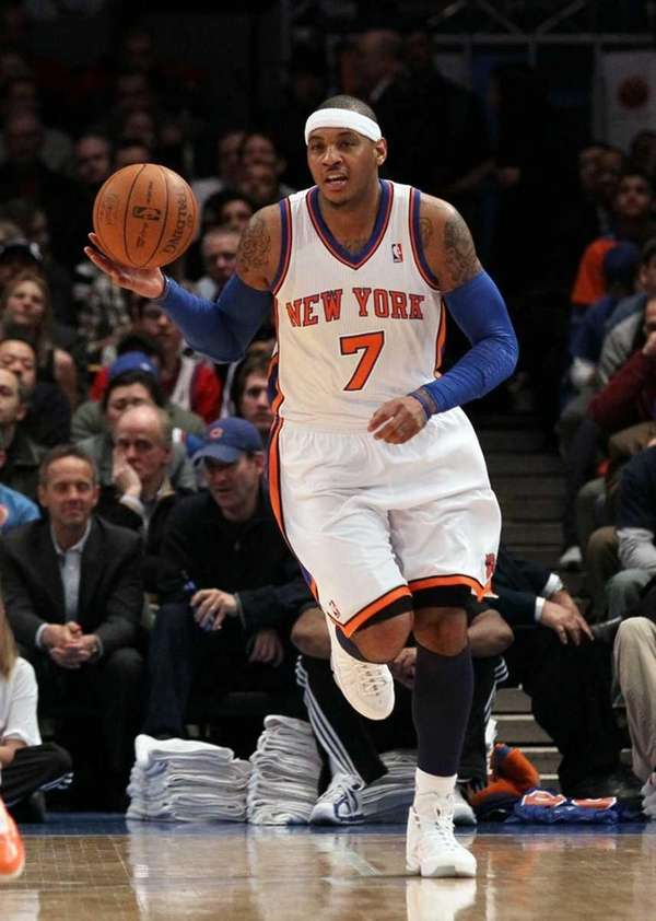 Carmelo Anthony of the New York Knicks in