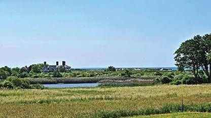 A Bridgehampton home with views of the ocean