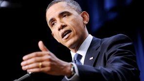 President Barack Obama holds a press conference in