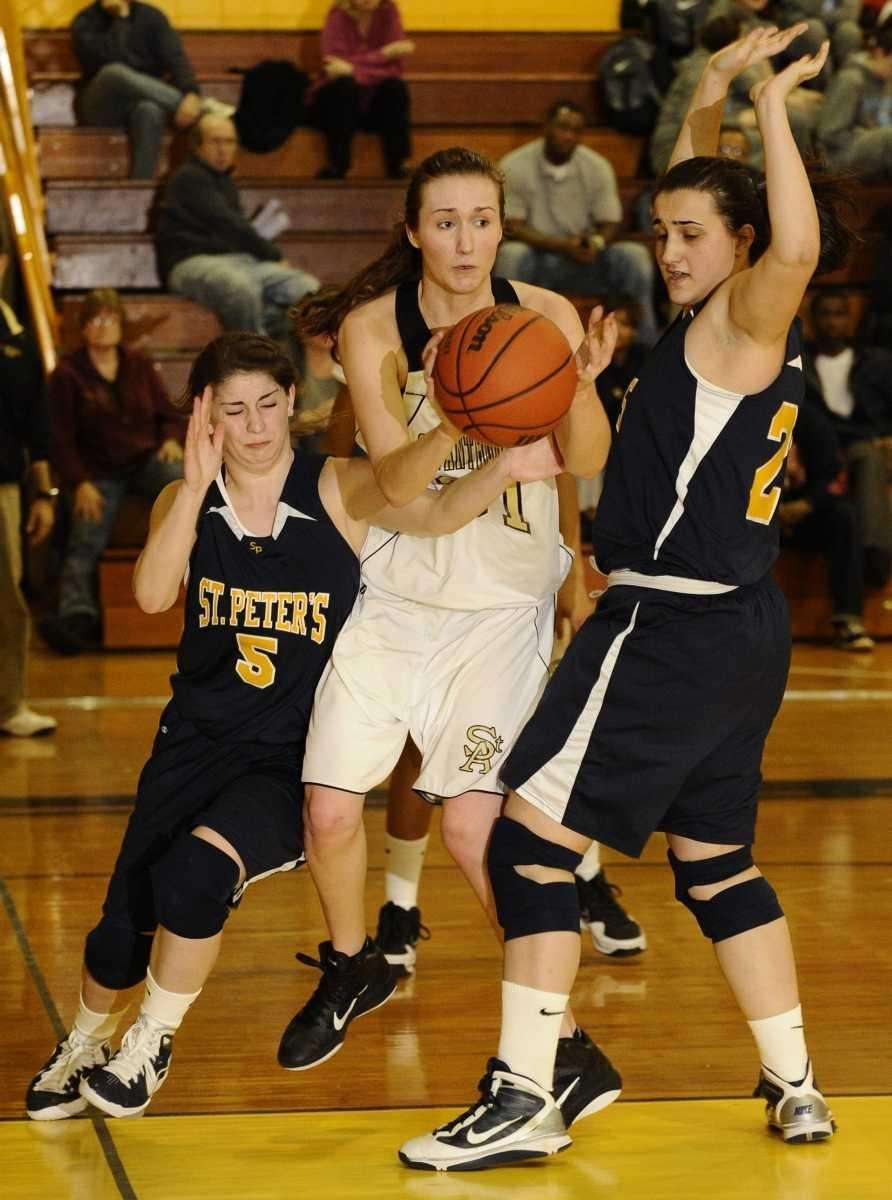 St. Anthony's Michele Impellizeri looks to pass between