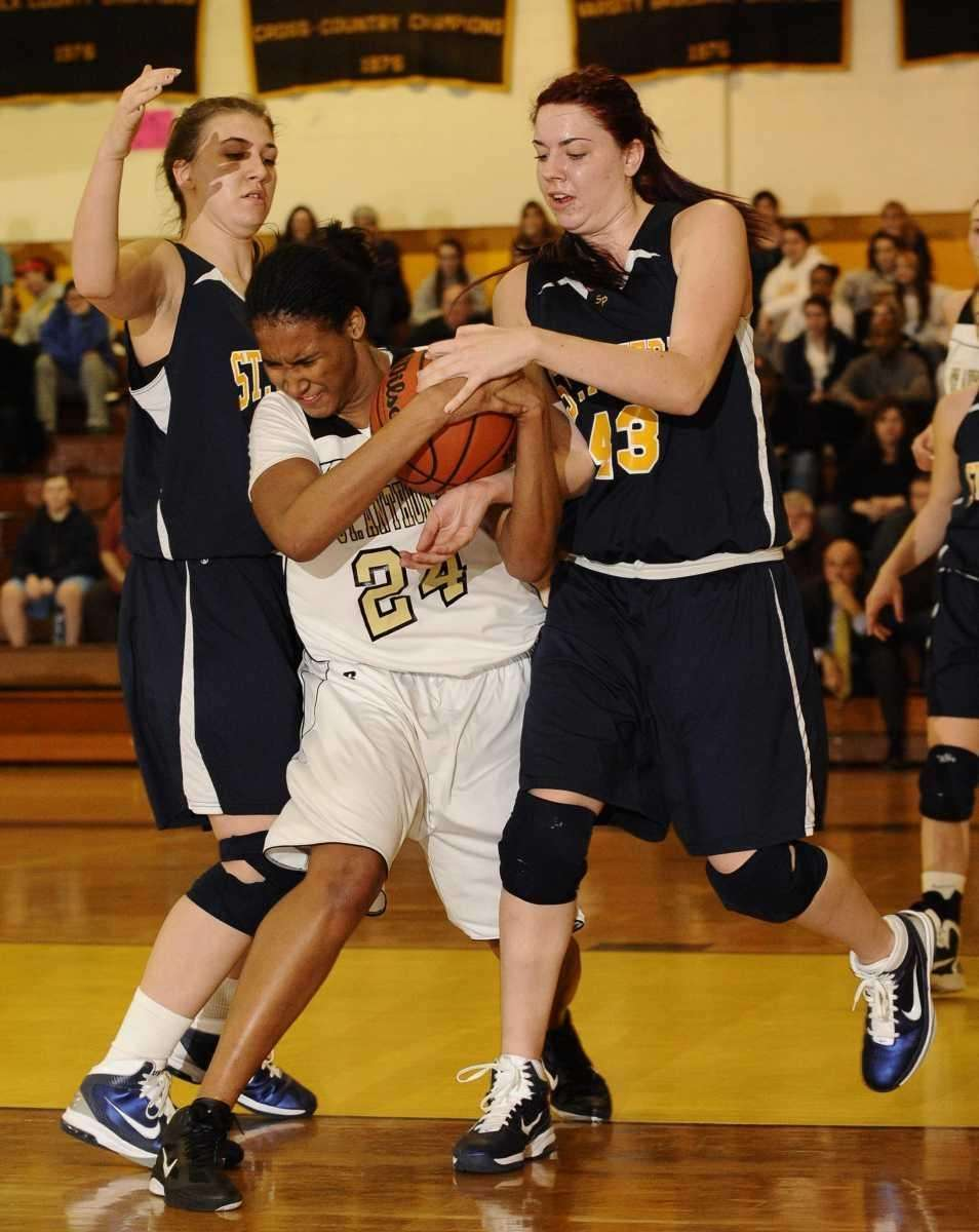 St. Anthony's Symone Kelly draws a foul against