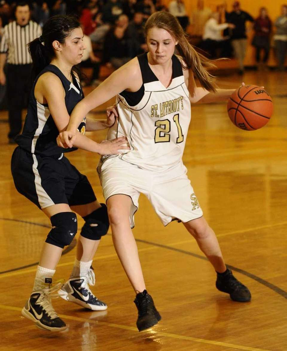 St. Anthony's Johanna Impellizeri drives to the basket