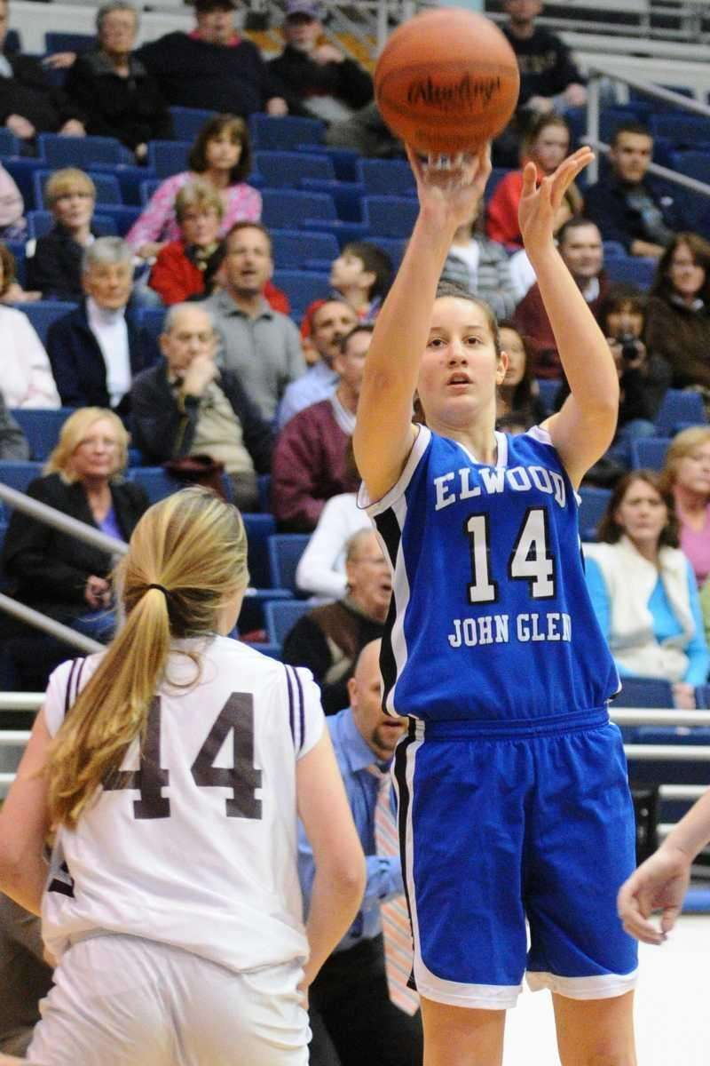 Glenn High School junior #14 Allison McKenna shoots