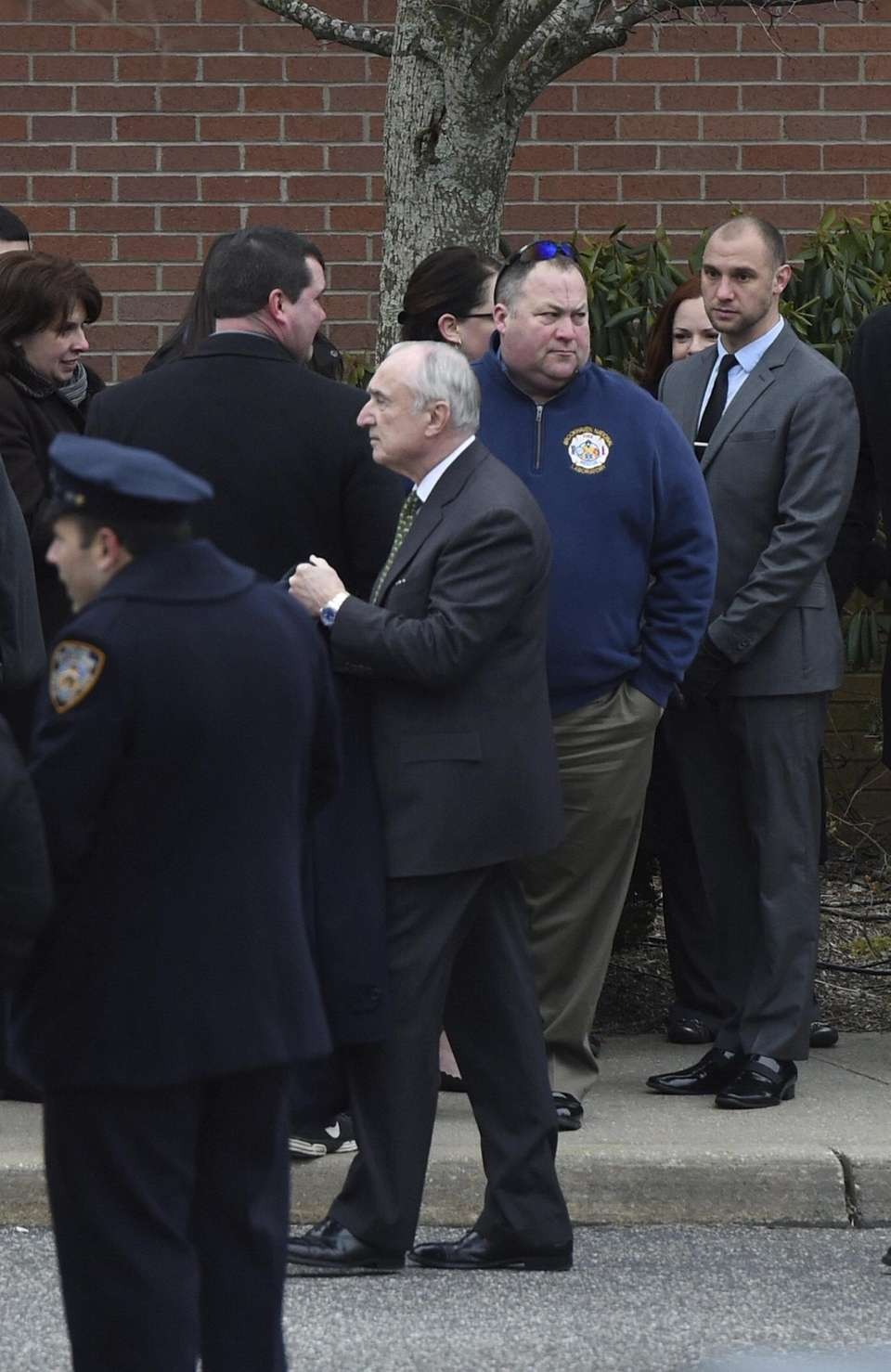 Former NYC police commissioner William Bratton arrives at