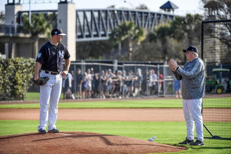 New York Yankees Pitcher Zack Britton speaks with