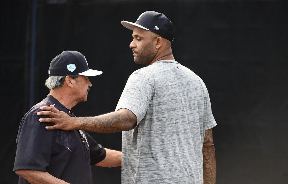 New York Yankees Pitcher C.C. Sabathia speaks with
