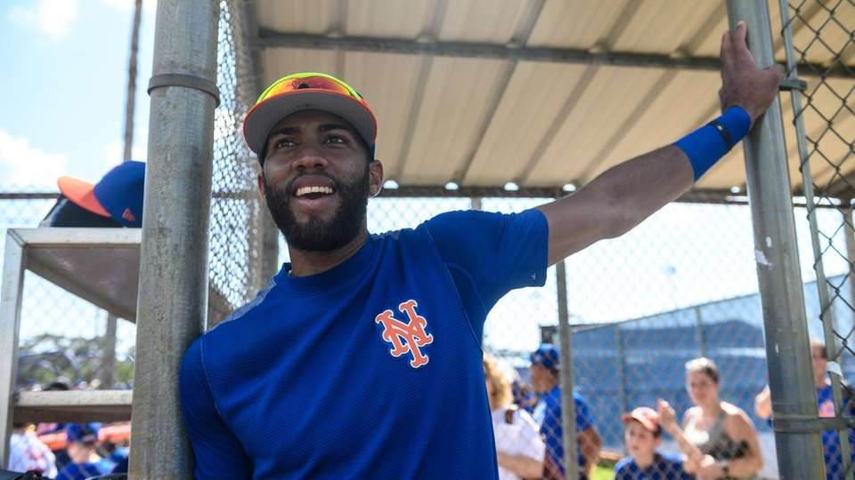 New York Mets infielder Amed Rosario during a