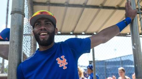 Mets infielder Amed Rosario during a spring training