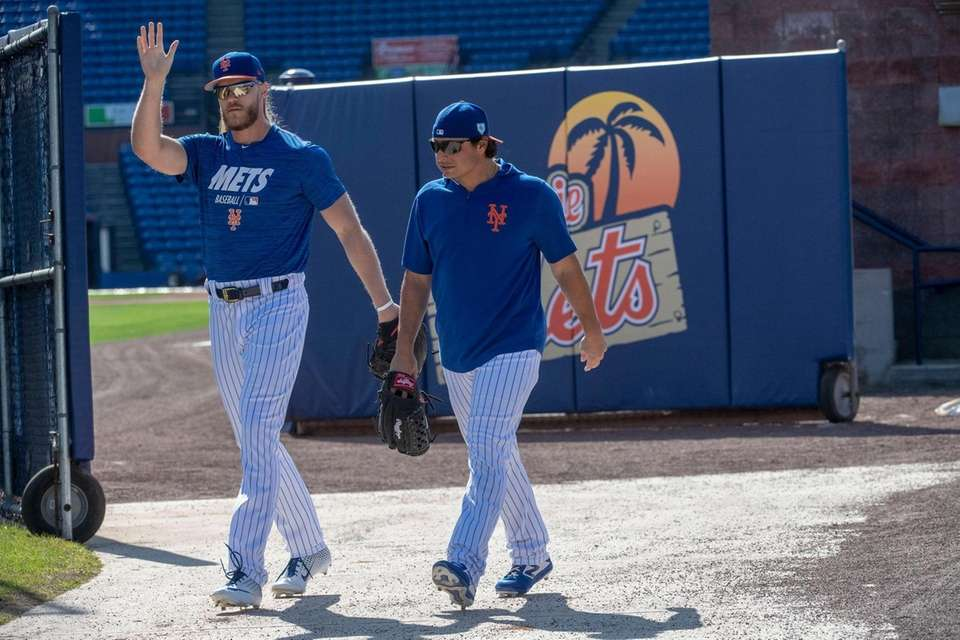 New York Mets pitchera Noah Syndergaard and Jason