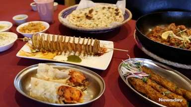 Faisel Ejaz, chef-owner of Kababjees in Hicksville, cooked