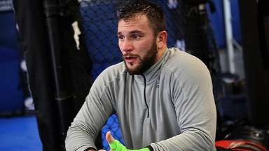 UFC fighter Gian Villante of Levittown works out