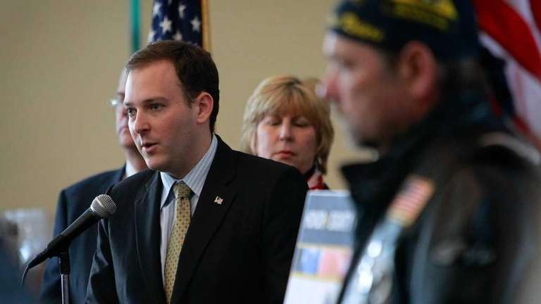 State Sen. Lee M. Zeldin of Shirley announces