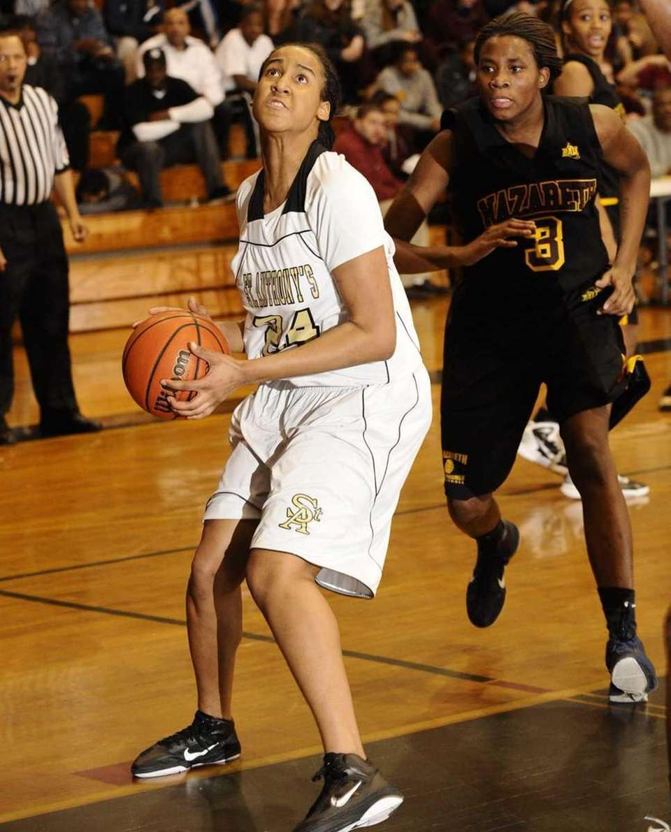 St. Anthony's Symone Kelly looks to shoot in