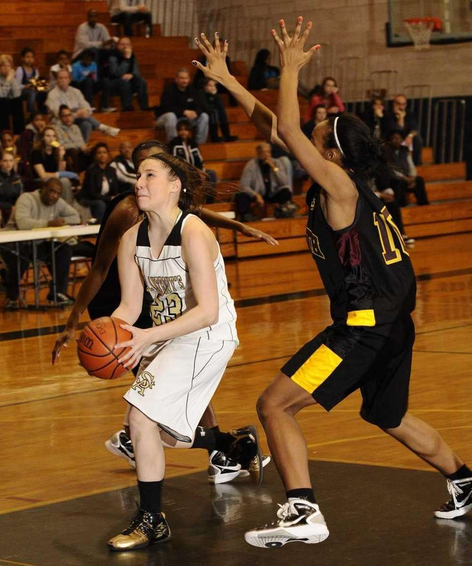 St. Anthony's Kerrin Maurer goes to the basket
